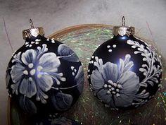 Mudded ornament - Painted ornament - Mudded ornament technique by Margot Clark -  Arts by the Kickapoo