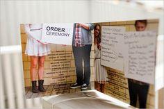 Wedding program, I love the fan idea!!! @Erin Buehler