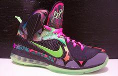 """Nike LeBron 9 """"Alley Art"""" Custom"""