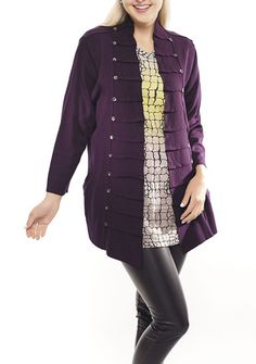 d96d2f3298c Feel good, Parsley & Sage Seargent Pepper Jacket, Eggplant/Black – Silhouette  Fashion