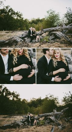 A Glam Maternity Shoot for Expecting Couple Ashley and Scott - On to Baby