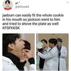 "I know JB's talented in all but I'll draw the line before ""plate in mouth"""