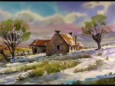 Painting a Fall Landscape in Watercolor with Susan Avis Murphy, AWS - YouTube