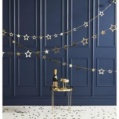 Gold Foil Star Garland Decoration