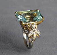 aquamarine Bee ring by Jean Schlumberger