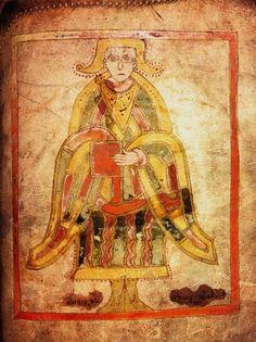 Livre de Dimma : St Luc: Le LIVRE DE DIMMA (Ms A IV 23 au Trinity College de Dublin) est un évangéliaire du  8°s, rédigé en Irlande à l'abbaye de ROSUEA Entre les Evangiles de Luc et de Jean, on y trouve également le texte de la liturgie pour l'administration du sacrement des malades.