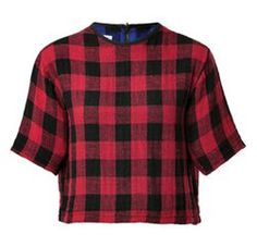 Red & Black Checked Top