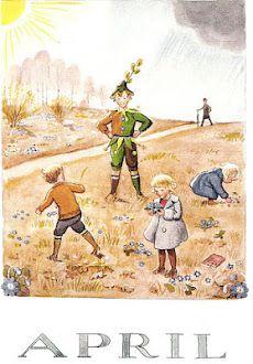 Elsa Beskow - Swedish (1874-1953) vintage postcard.