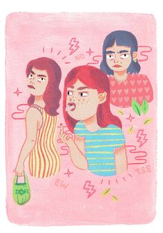 Angry Girls by IloveMaki