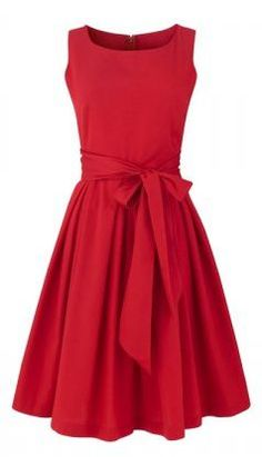 Pretty- I love red dresses!