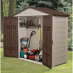 Mower shed on pinterest lawn mower storage sheds and sheds for Casa para guardar herramientas