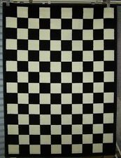 Black And White Checkered Area Rug 5 X