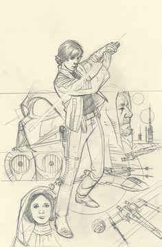 Star Wars: Rebel Heist #4 - Luke Skywalker (WIP) by Adam Hughes *