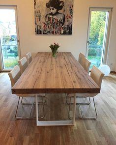 Esstisch Massivholztisch Holztisch Eichentisch Dinningtable Tisch Aus  Eichenholz Holz Nach Maß Www.holzwerk Hamburg