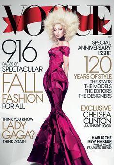 Lady Gaga Vogue Magazine September 2012 Issue - Fashion Magazine Cover - Fashion Photography