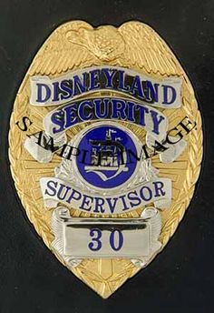 Disney Security Police Badge