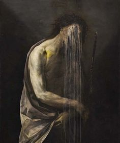Nicola Samori Scratches The Surface Of His Dark And Intense Paintings To Unveil Previous Layers Of Work