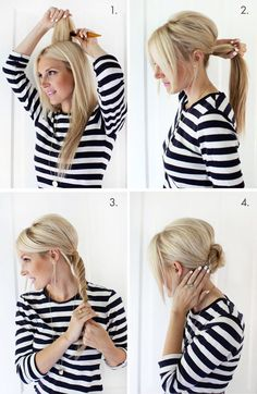 Easy Chignon Hairstyle (This is my favorite easy updo, so glad I ...