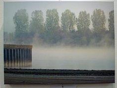 An der Mole, Landschaft,  FOTO von GIMOOTO, Motiv gedruckt auf Künstlerleinwand