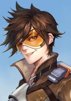 Overwatch, Tracer, by Goldeen