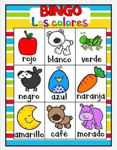 Juego bingo de los colores para aprender los colores Preschool Spanish, Free Preschool, Learning Spanish, Preschool Activities, Kids Learning, Games For Kids, Diy For Kids, Kid Games, Color Activities