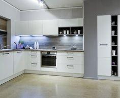 Moderní designová kuchyně Lara. Kuchyně a spotřebiče jedné značky - gorenje. #kuchyně #design #interiér #domov #gorenje