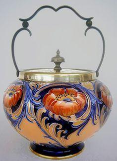 Antique Macintyre Moorcroft Cookie Jar.  Sold on Ebay for $1,455.