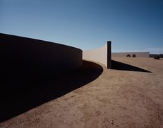 Tadao Ando / Tom Ford's New Mexico ranch. It reminds me a lot at Richard Serra.