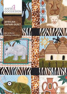 African Safari Quilt - Anita Goodesign