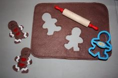 Christy: Felt Food: Gingerbread Men