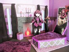 How to make a Elissabat Bedroom Tutorial/ Monster High
