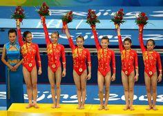 China - Gymnastics - Beijing 2008 ~ Womens Team All round - Cheng Fei   Deng Linlin   He Kexin   Jiang Yuyuan   Li Shanshan   Yang Yilin