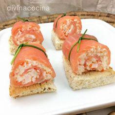 Aquí tienes muchas ideas para hacer rollitos de salmón ahumado rellenos originales y variados. Perfectos para Navidad y compartir.
