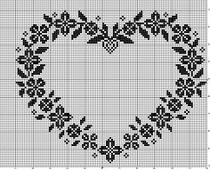 ru / Фото - MONOCOLOR - aaadelayda nice floral border in heart shape Cross Stitch Kitchen, Cross Stitch Heart, Beaded Cross Stitch, Cross Stitch Borders, Cross Stitch Samplers, Cross Stitch Flowers, Cross Stitch Designs, Cross Stitch Patterns, Filet Crochet Charts