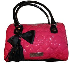 Women's Betsey Johnson Purse Handbag Be Mine Satchel Pink