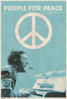 John Lennon - People for Peace Poster Print, 24x36 Music Poster Print, 24x36