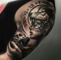 Männer Tattoo auf der Schulter