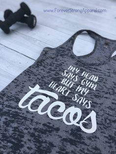 7ab068d1899 My Heart Says Tacos Flowy Tank BU56W Taco Shirt