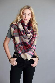 Oversized blanket scarf 55in. x 55in. 100% acrylic