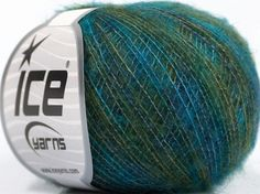 Fiber Content 70% Kid Mohair, 30% Polyamide, Turquoise, Brand Ice Yarns, Green, fnt2-43771