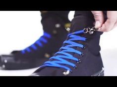 QuickShoeLace - New way of tying your shoes with elastic lace & ring - YouTube