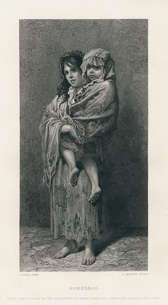 Homeless, after Gustave Dore, 1875