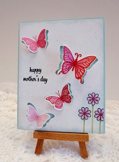 Sleepy in Seattle- Hero Arts butterfly set handmade card for Mother's Day