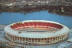 Riverfront Stadium in Cincinnati, OH. Home of the Cincinnati Reds.