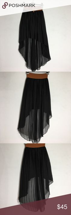 BB Couture Black High Low Skirt - M Gently Used Condition.  Please ask questions before purchasing.  See pictures for more information and description details.  Thank you for stopping by my closet.  Sparkles ✨ and Happy Poshing!  📌Fair Offers Considered BB Couture Skirts High Low