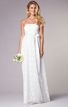 6151d4cb1ab Liara Maternity Wedding Lace Gown Long Ivory by Tiffany Rose. Wedding  DresssesBridal Party DressesCheap ...