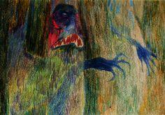 Twitter : @RheaAnastasia  Rhea Anastasia troll, forest, colors, pencil, handmade