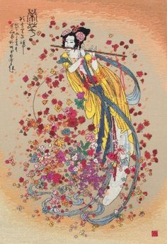 image of Goddess of Prosperity Cross Stitch Kit