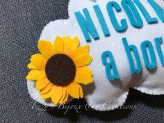 "Dettaglio Bimbo a Bordo ""Nuvoletta"" #babyonboard #ribbon #felt #handmade #itsaboy"