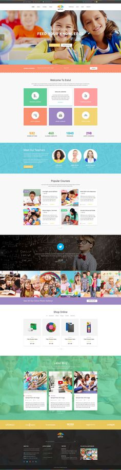 Estut - Material Education, Learning Center & Kid School Multipurpose Bootstrap HTML5 Template #educational #website